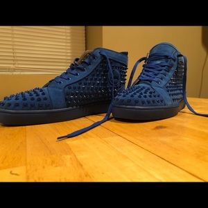 Christian Louboutin  Blue Suede Spikes